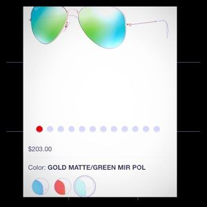 Green/Blue mirrored Ray-Bans aviators